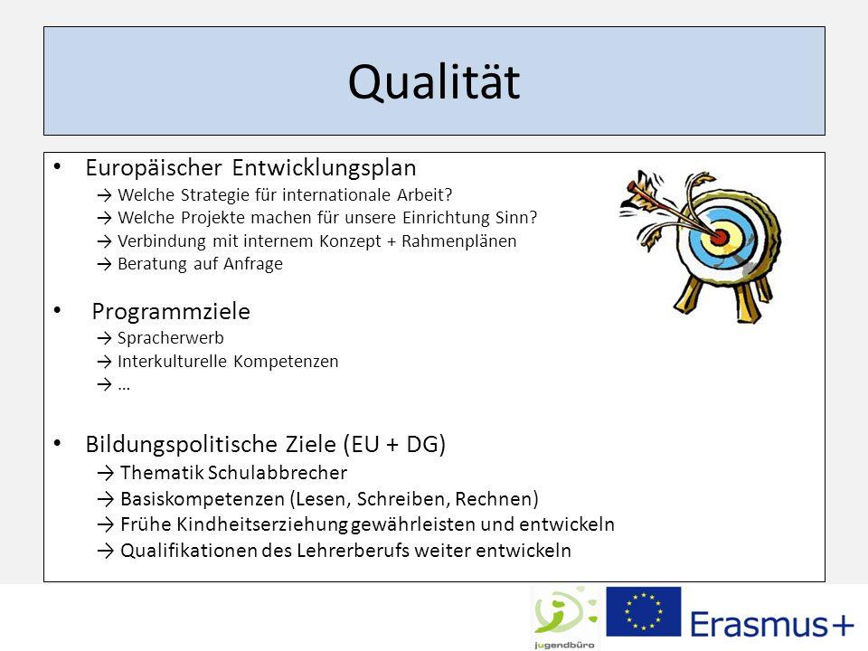 Qualität Europäischer Entwicklungsplan Programmziele