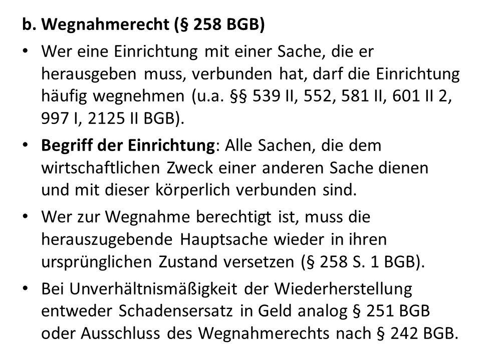 Wegnahmerecht (§ 258 BGB)