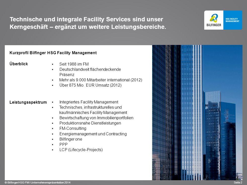 Technische und integrale Facility Services sind unser Kerngeschäft – ergänzt um weitere Leistungsbereiche.