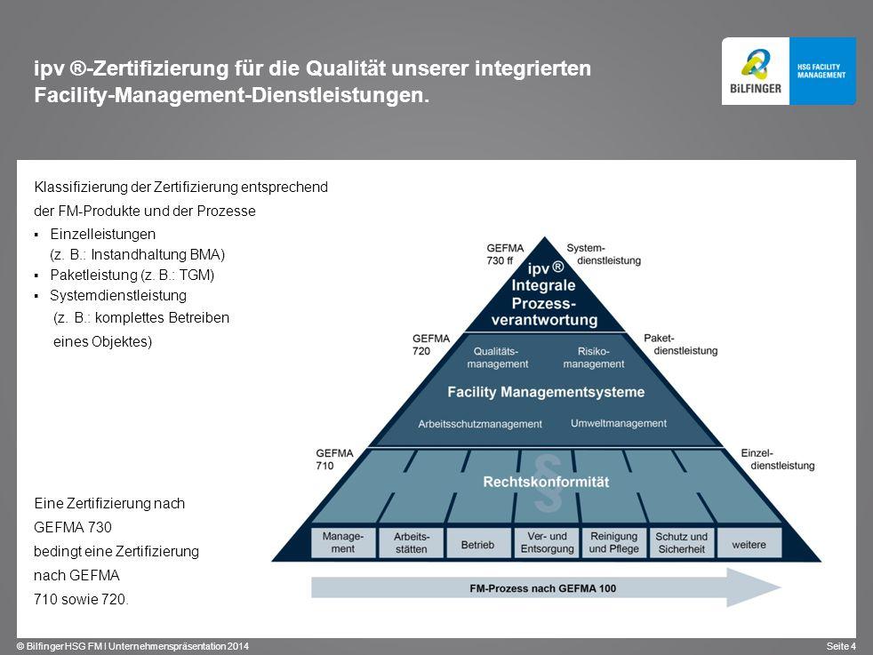 ipv ®-Zertifizierung für die Qualität unserer integrierten Facility-Management-Dienstleistungen.