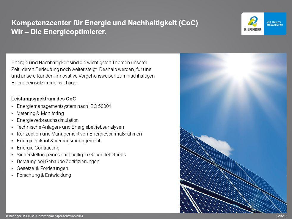 Kompetenzcenter für Energie und Nachhaltigkeit (CoC) Wir – Die Energieoptimierer.