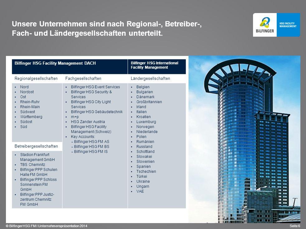 Unsere Unternehmen sind nach Regional-, Betreiber-, Fach- und Ländergesellschaften unterteilt.