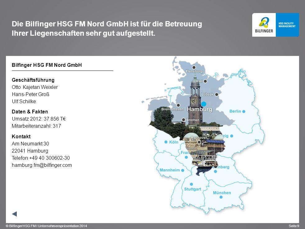 Die Bilfinger HSG FM Nord GmbH ist für die Betreuung Ihrer Liegenschaften sehr gut aufgestellt.