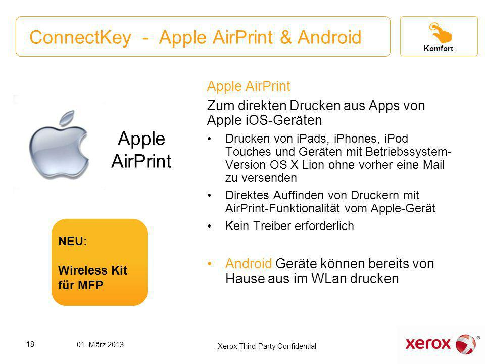 ConnectKey - Apple AirPrint & Android