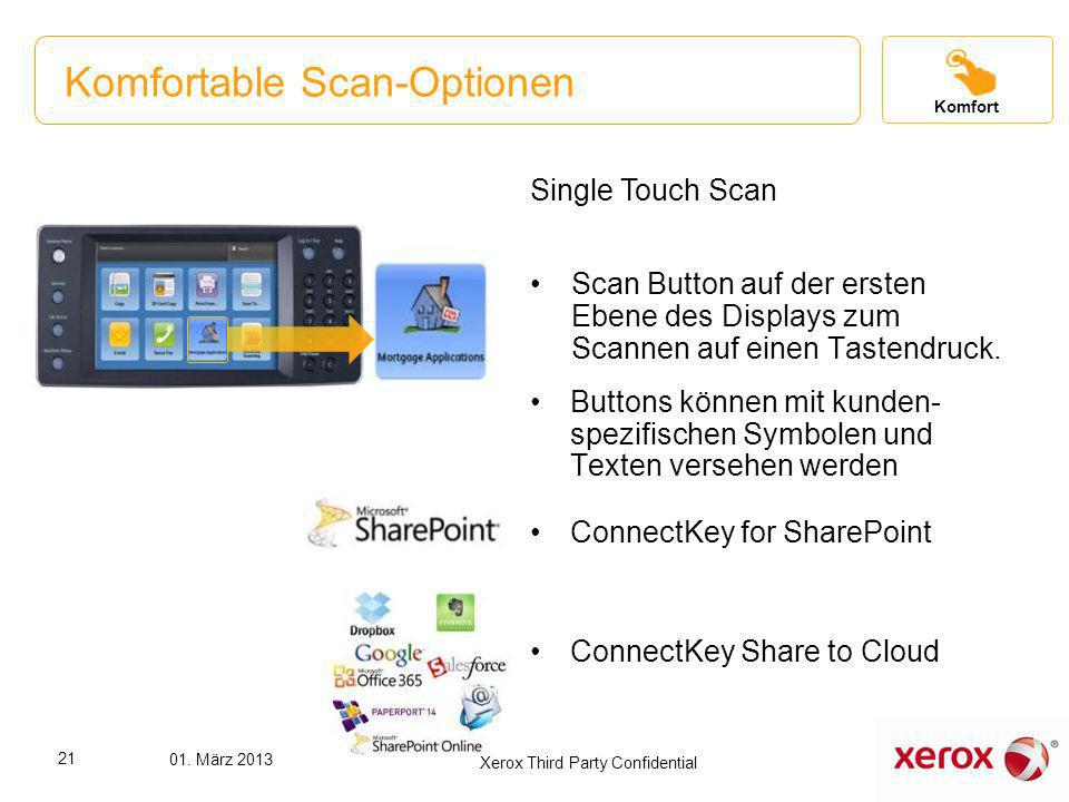 Komfortable Scan-Optionen
