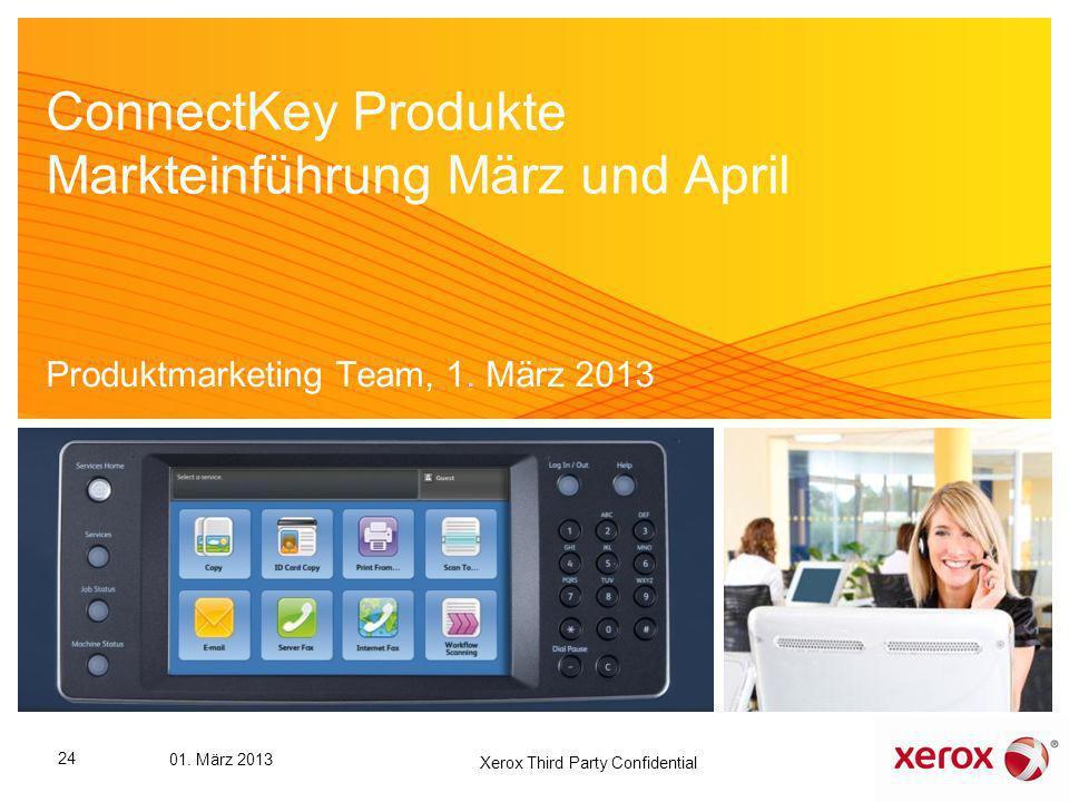 ConnectKey Produkte Markteinführung März und April