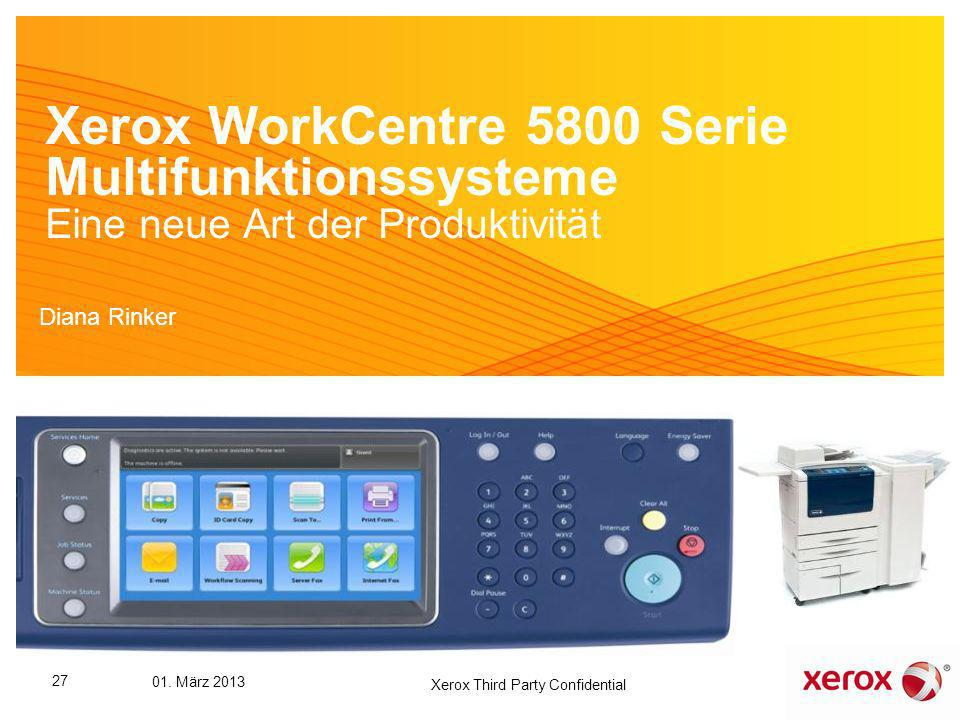 Xerox Third Party Confidential