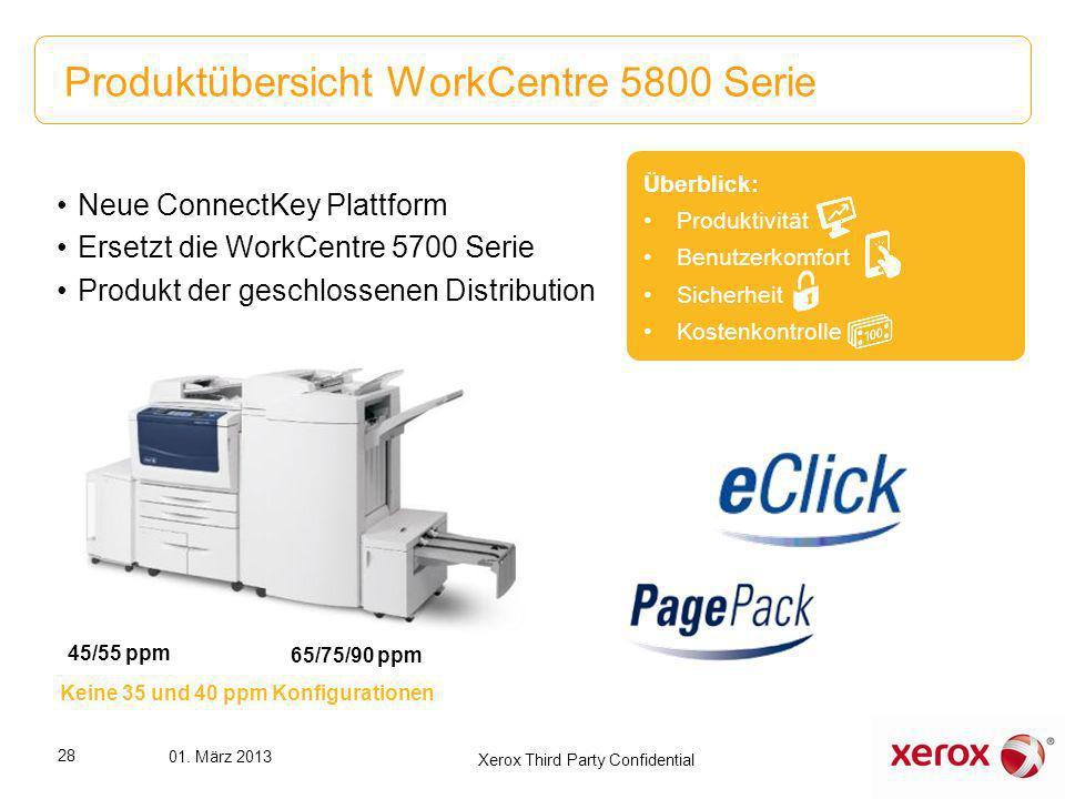 Produktübersicht WorkCentre 5800 Serie