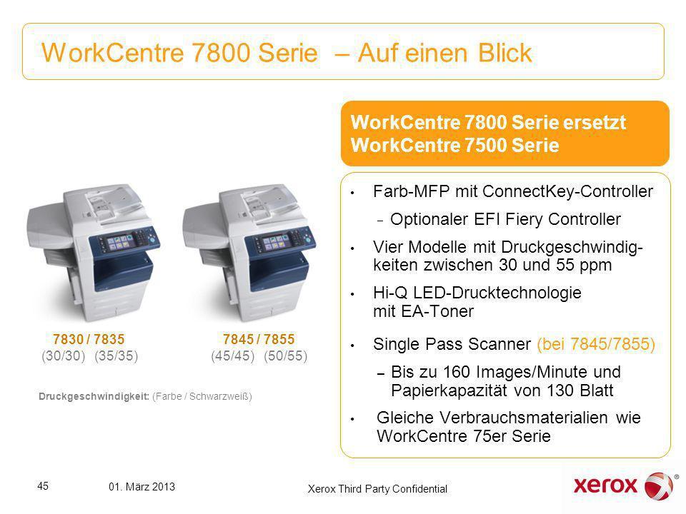 WorkCentre 7800 Serie – Auf einen Blick
