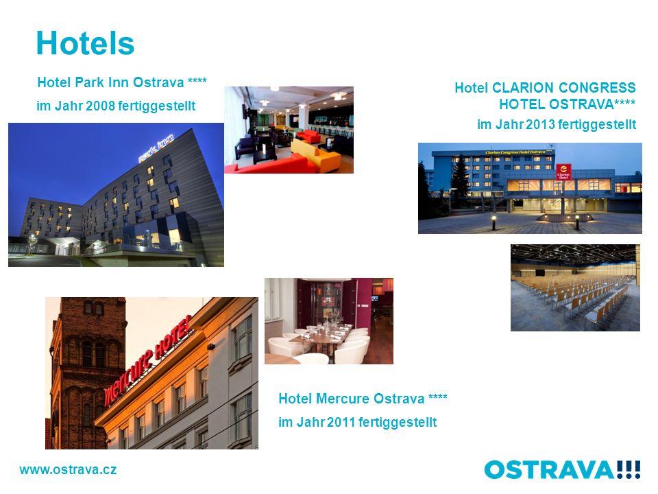 Hotel Park Inn Ostrava **** im Jahr 2008 fertiggestellt