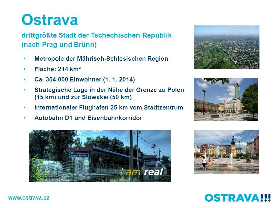 Ostrava drittgrößte Stadt der Tschechischen Republik