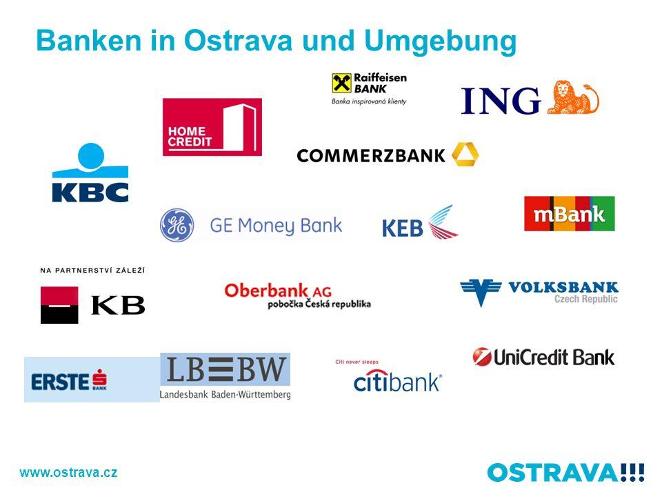 Banken in Ostrava und Umgebung