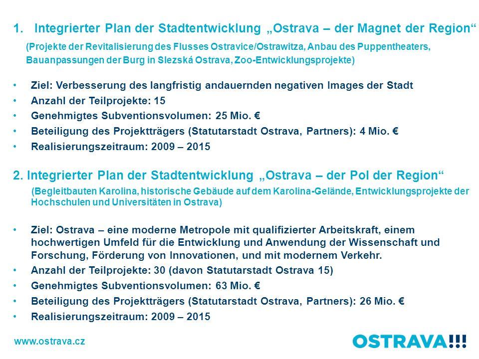 """Integrierter Plan der Stadtentwicklung """"Ostrava – der Magnet der Region"""