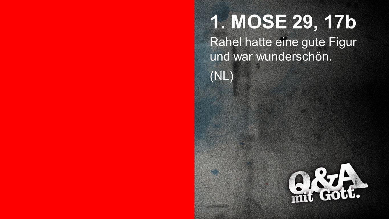 1. Mose 29, 17b 1. MOSE 29, 17b Rahel hatte eine gute Figur und war wunderschön. (NL)