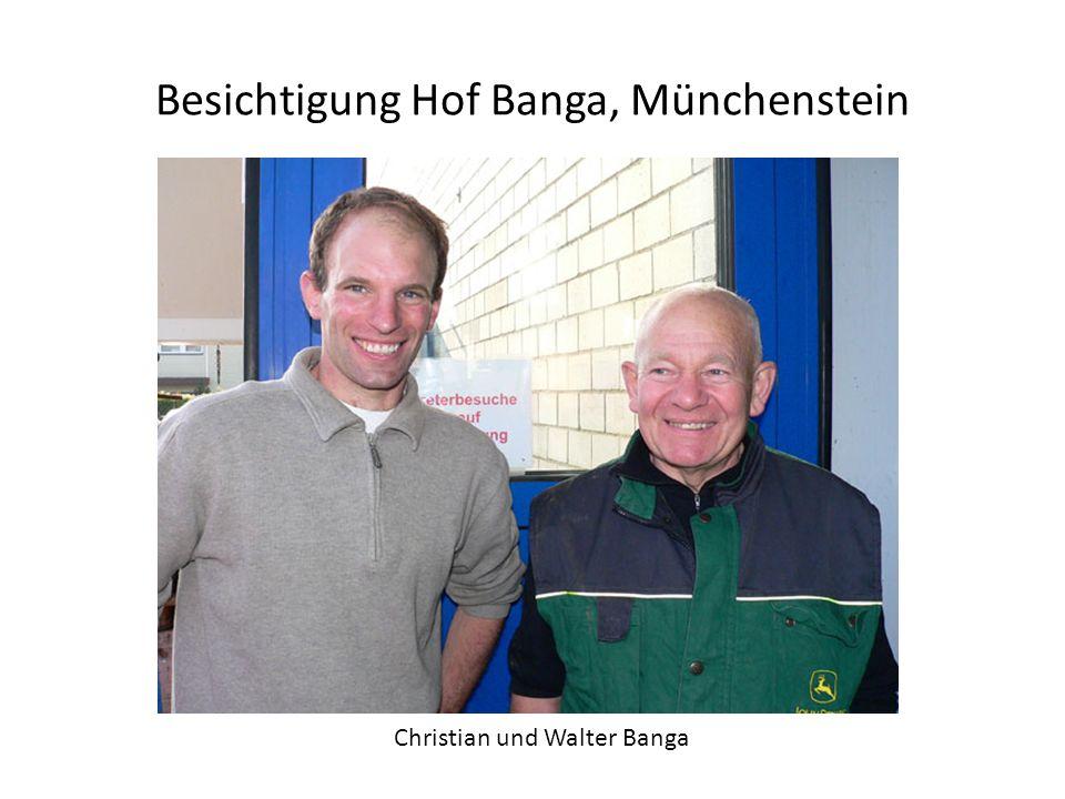 Besichtigung Hof Banga, Münchenstein