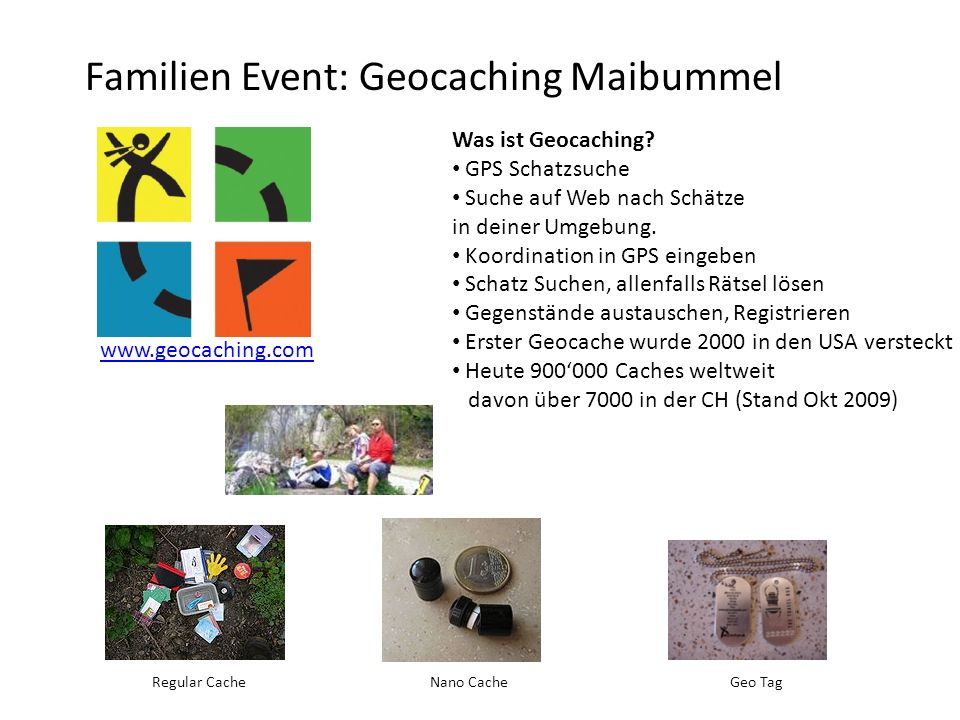 Familien Event: Geocaching Maibummel