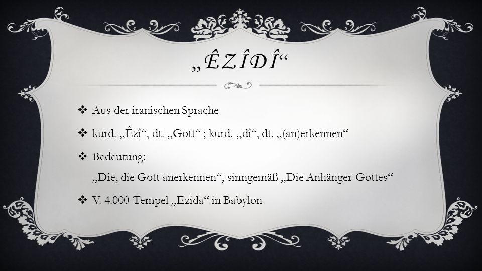 """""""Êzîdî Aus der iranischen Sprache"""