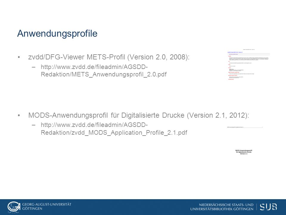 Bestandteile eines METS-Datensatzes