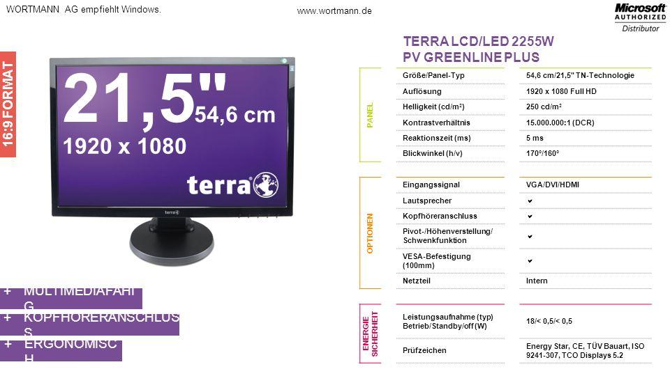 21,5 54,6 cm 1920 x 1080 TERRA LCD/LED 2255W PV GREENLINE PLUS