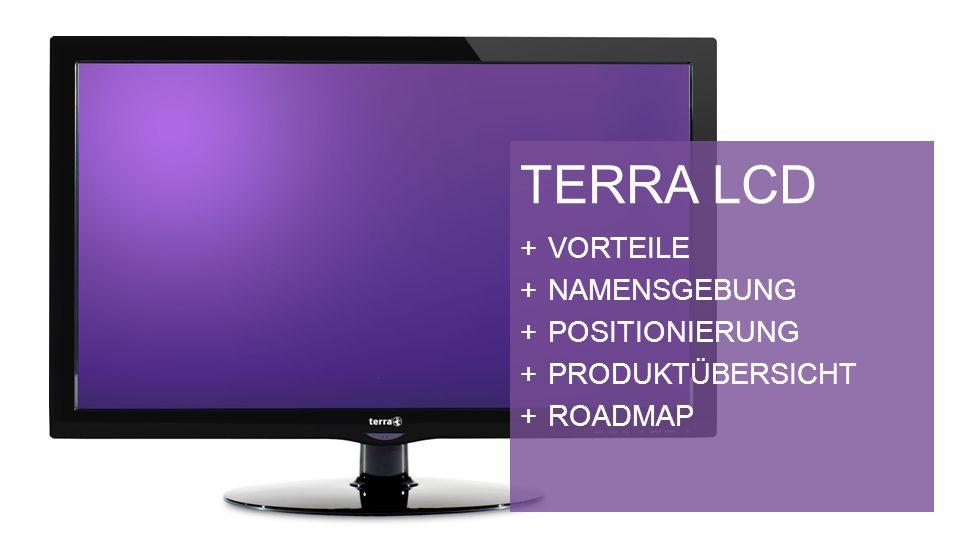 TERRA LCD VORTEILE NAMENSGEBUNG POSITIONIERUNG PRODUKTÜBERSICHT