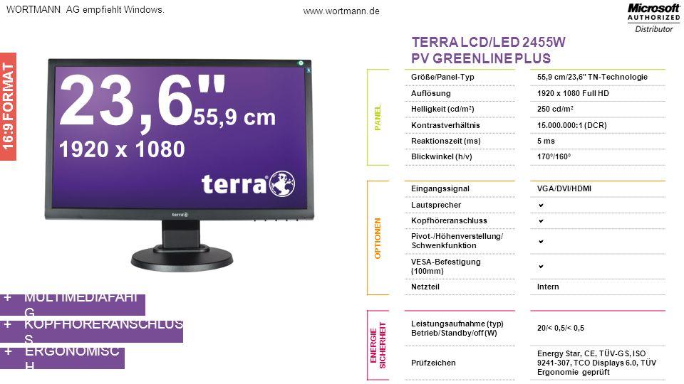 23,6 55,9 cm 1920 x 1080 TERRA LCD/LED 2455W PV GREENLINE PLUS