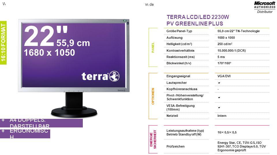 22 55,9 cm 1680 x 1050 TERRA LCD/LED 2230W PV GREENLINE PLUS