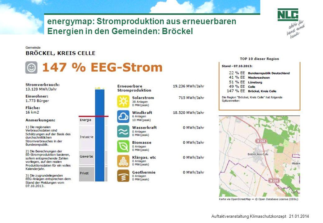 energymap: Stromproduktion aus erneuerbaren Energien in den Gemeinden: Bröckel