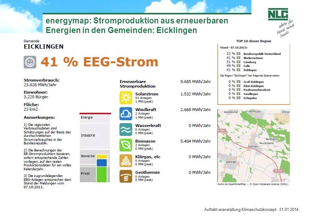 energymap: Stromproduktion aus erneuerbaren Energien in den Gemeinden: Eicklingen