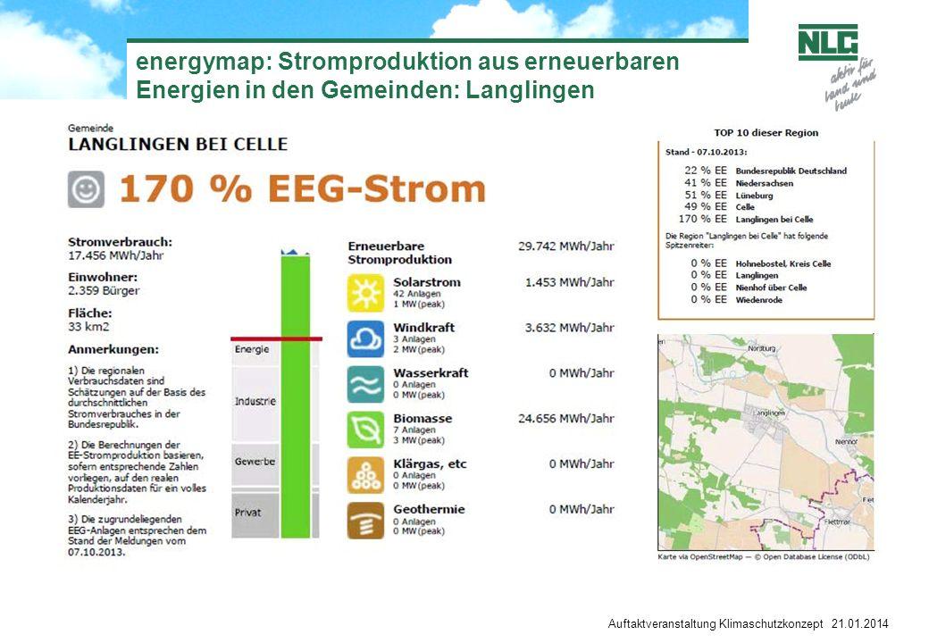energymap: Stromproduktion aus erneuerbaren Energien in den Gemeinden: Langlingen