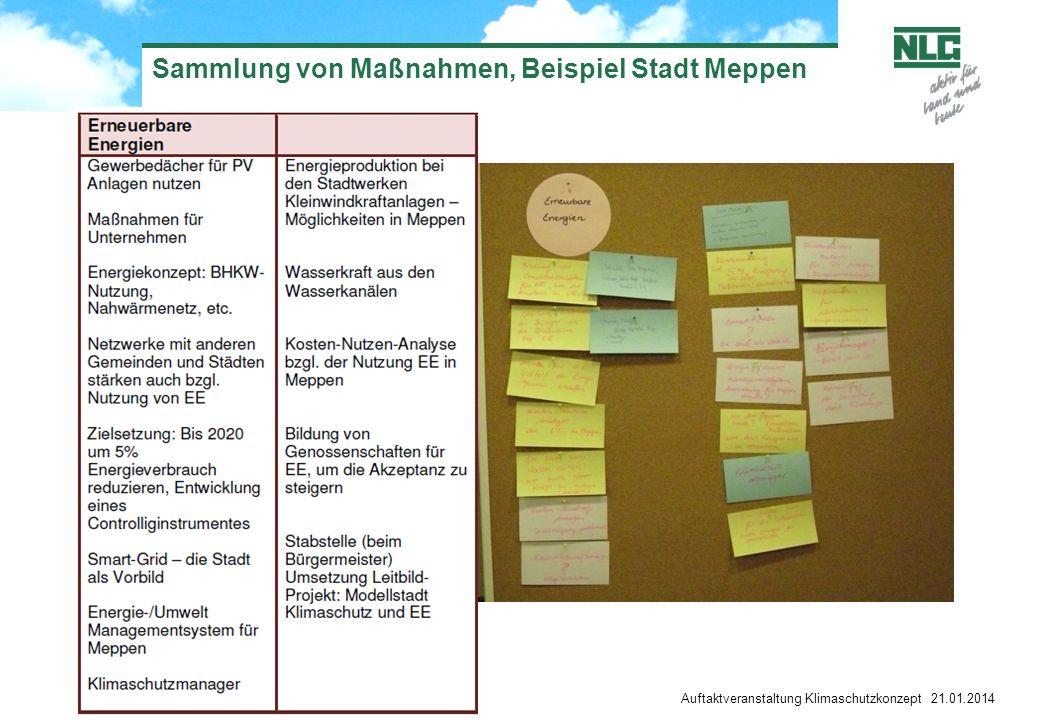 Sammlung von Maßnahmen, Beispiel Stadt Meppen