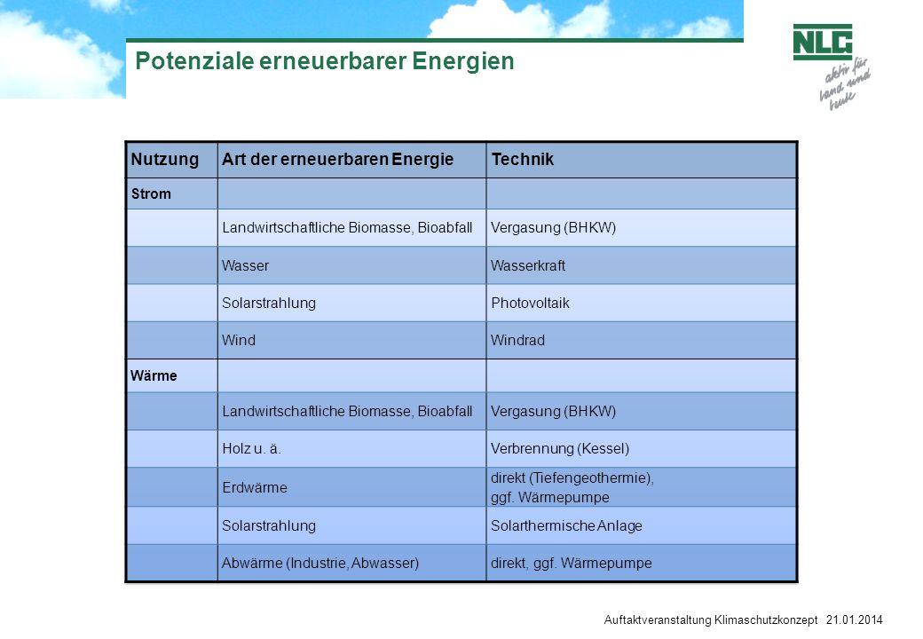 Potenziale erneuerbarer Energien