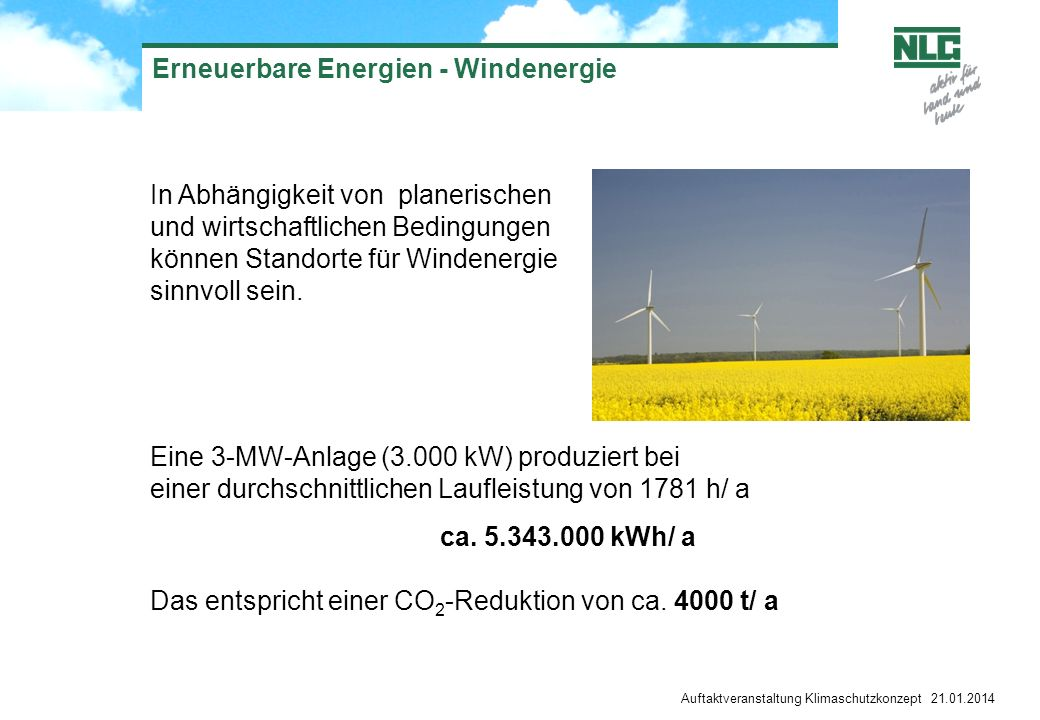 Erneuerbare Energien - Windenergie