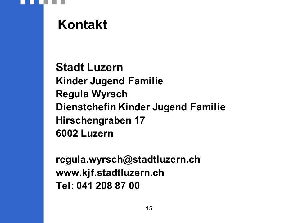 Kontakt Stadt Luzern Kinder Jugend Familie Regula Wyrsch