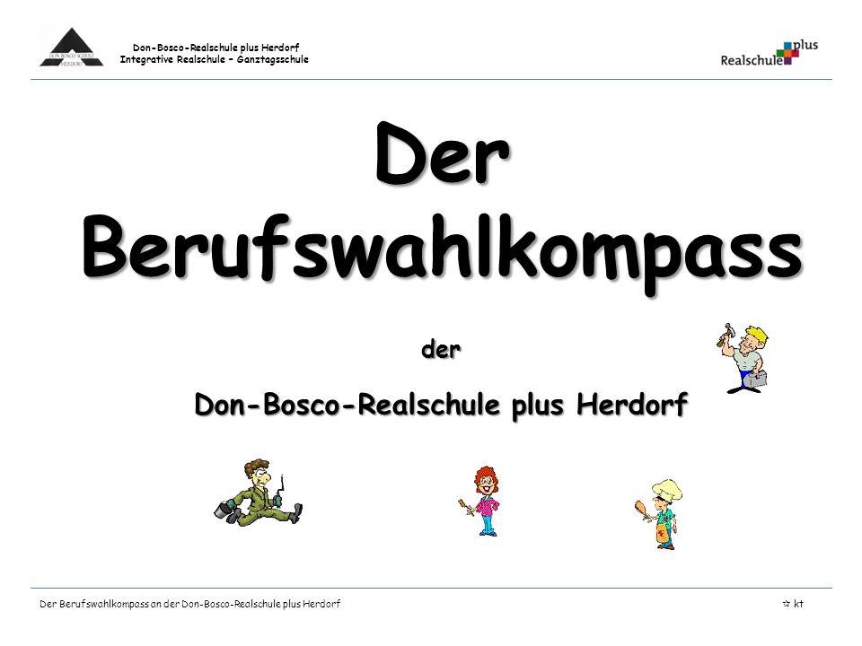 Der Berufswahlkompass Don-Bosco-Realschule plus Herdorf