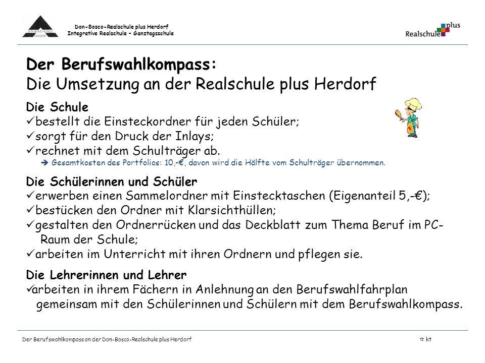 Der Berufswahlkompass: Die Umsetzung an der Realschule plus Herdorf