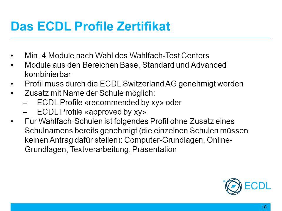 Das ECDL Profile Zertifikat