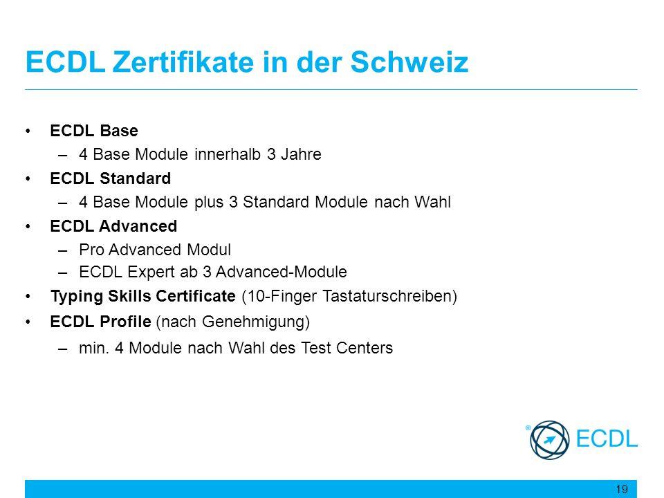 ECDL Zertifikate in der Schweiz