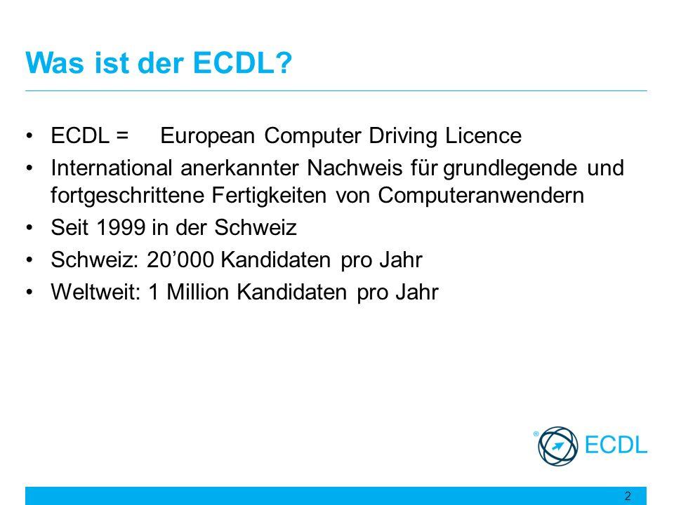 Was ist der ECDL ECDL = European Computer Driving Licence