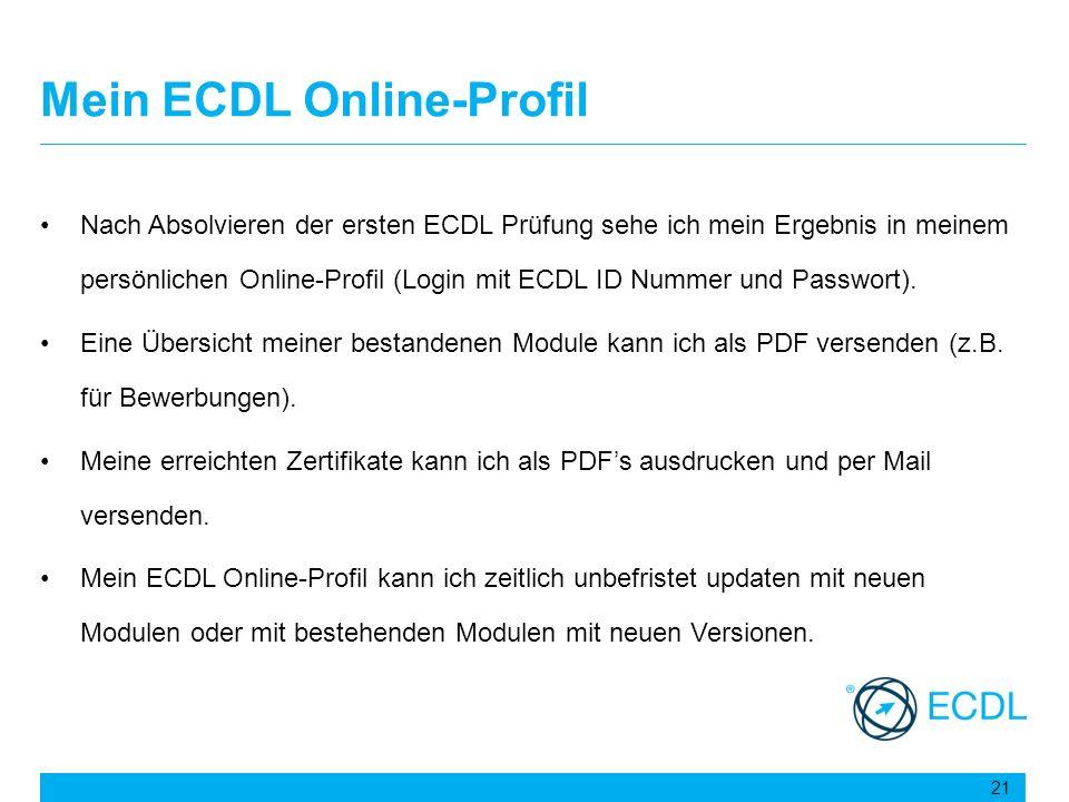 Mein ECDL Online-Profil