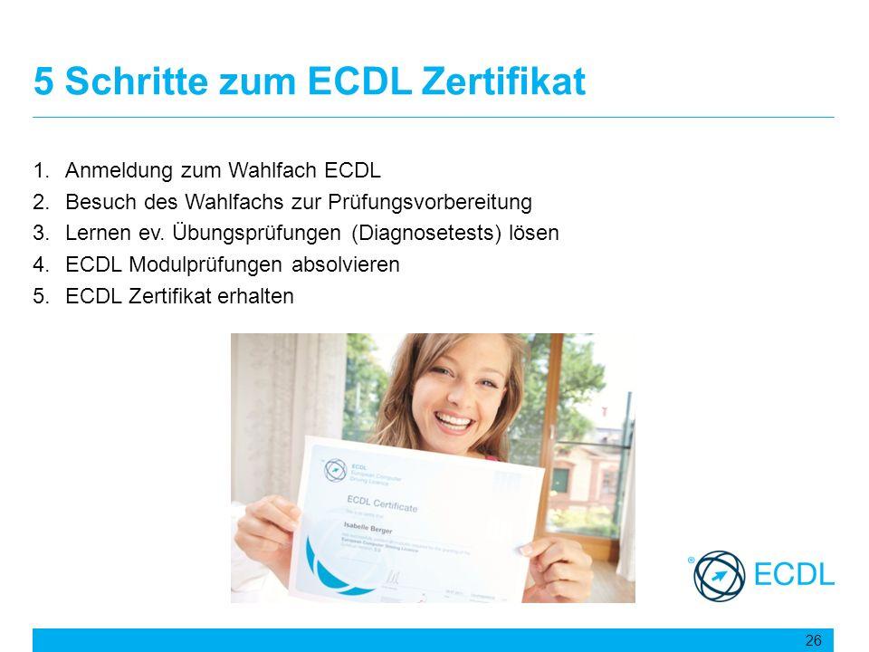 5 Schritte zum ECDL Zertifikat