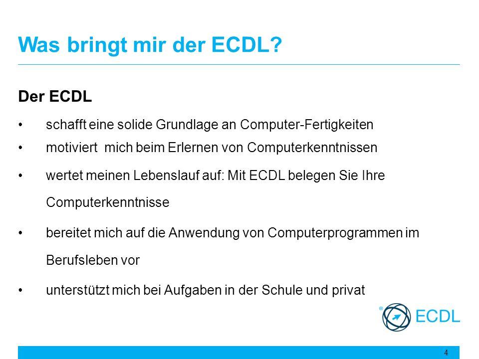 Was bringt mir der ECDL Der ECDL