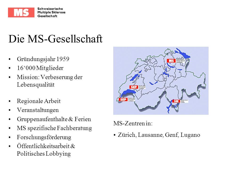 Die MS-Gesellschaft Gründungsjahr 1959 16'000 Mitglieder