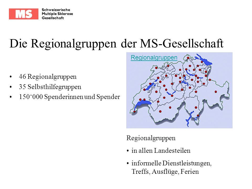 Die Regionalgruppen der MS-Gesellschaft
