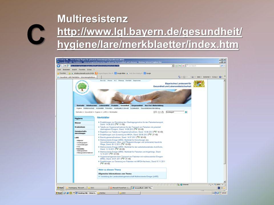 C Multiresistenz http://www.lgl.bayern.de/gesundheit/