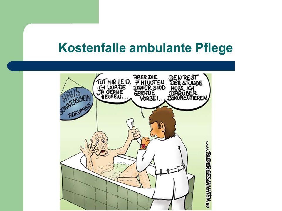 Kostenfalle ambulante Pflege