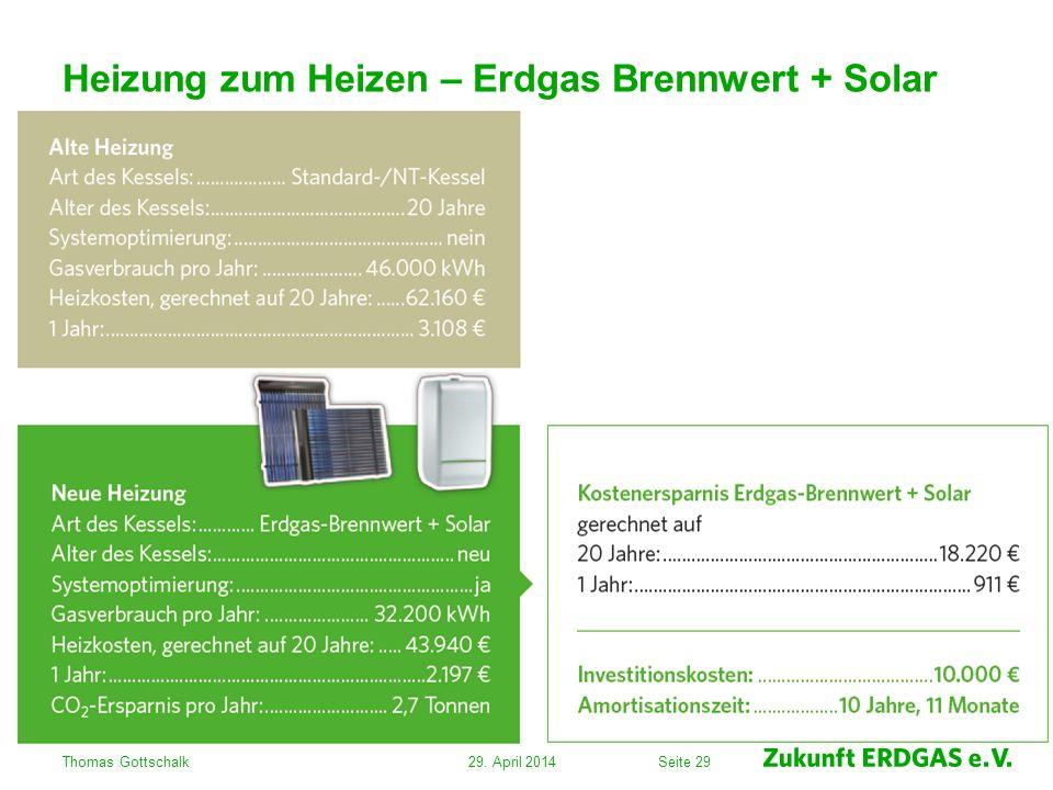 Heizung zum Heizen – Erdgas Brennwert + Solar