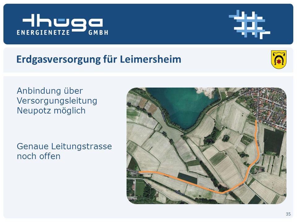 Erdgasversorgung für Leimersheim