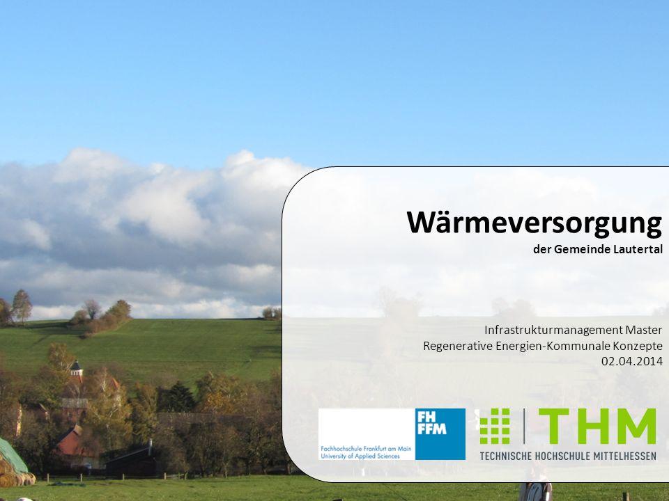 Wärmeversorgung der Gemeinde Lautertal Infrastrukturmanagement Master