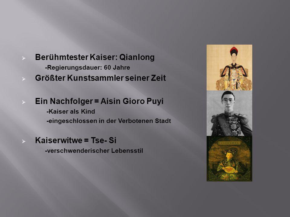 Berühmtester Kaiser: Qianlong Größter Kunstsammler seiner Zeit