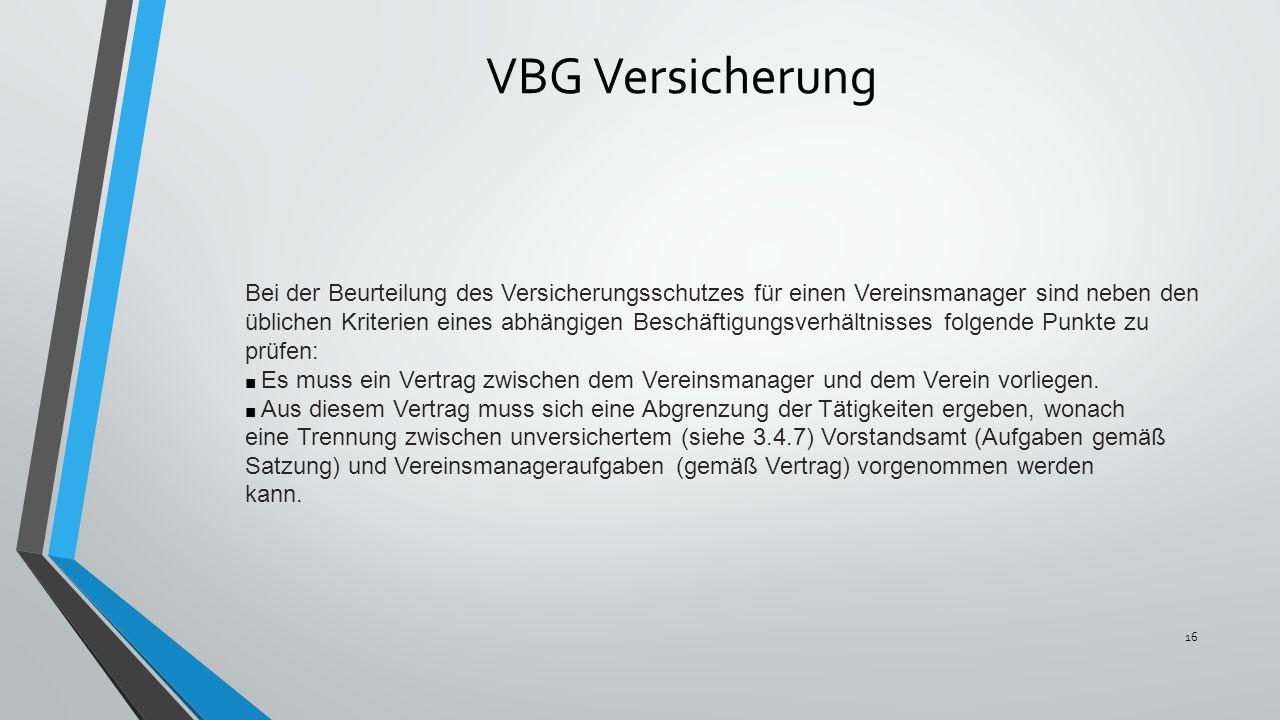 VBG Versicherung